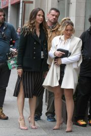Sutton Foster and Hilary Duff - Filming 'Younger' set in New York