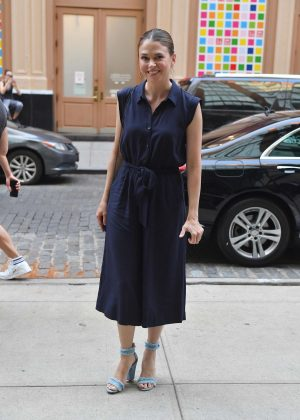 Sutton Foster at Crosby Hotel in New York City