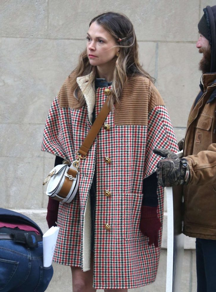 Sutton Foster - Filming 'Younger' in Brooklyn