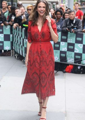 Sutton Foster - Promotes TV series 'Younger' at AOL Build Series in NY