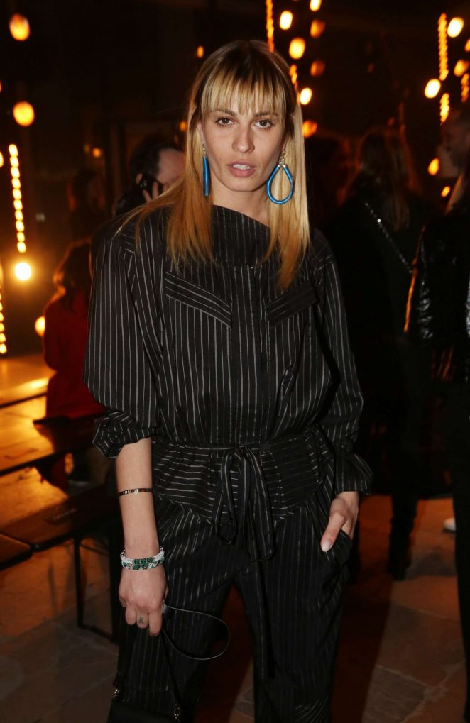 Sveva Alviti at Paris Fashion Week in Paris