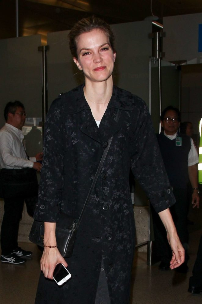 Sylvia Hoeks - LAX International Airport in Los Angeles