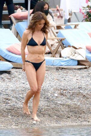 Sylvie Grateau - In a bikini filming 'Emily In Paris' in Saint-Jean-Cap-Ferrat - France