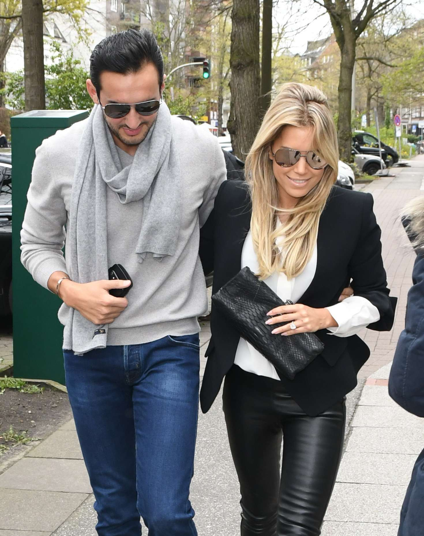 sylvie meis and charbel aouad out in hamburg. Black Bedroom Furniture Sets. Home Design Ideas