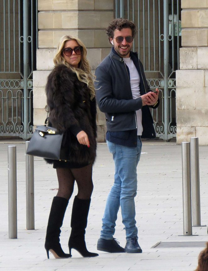 Sylvie Meis and her boyfriend out in Paris