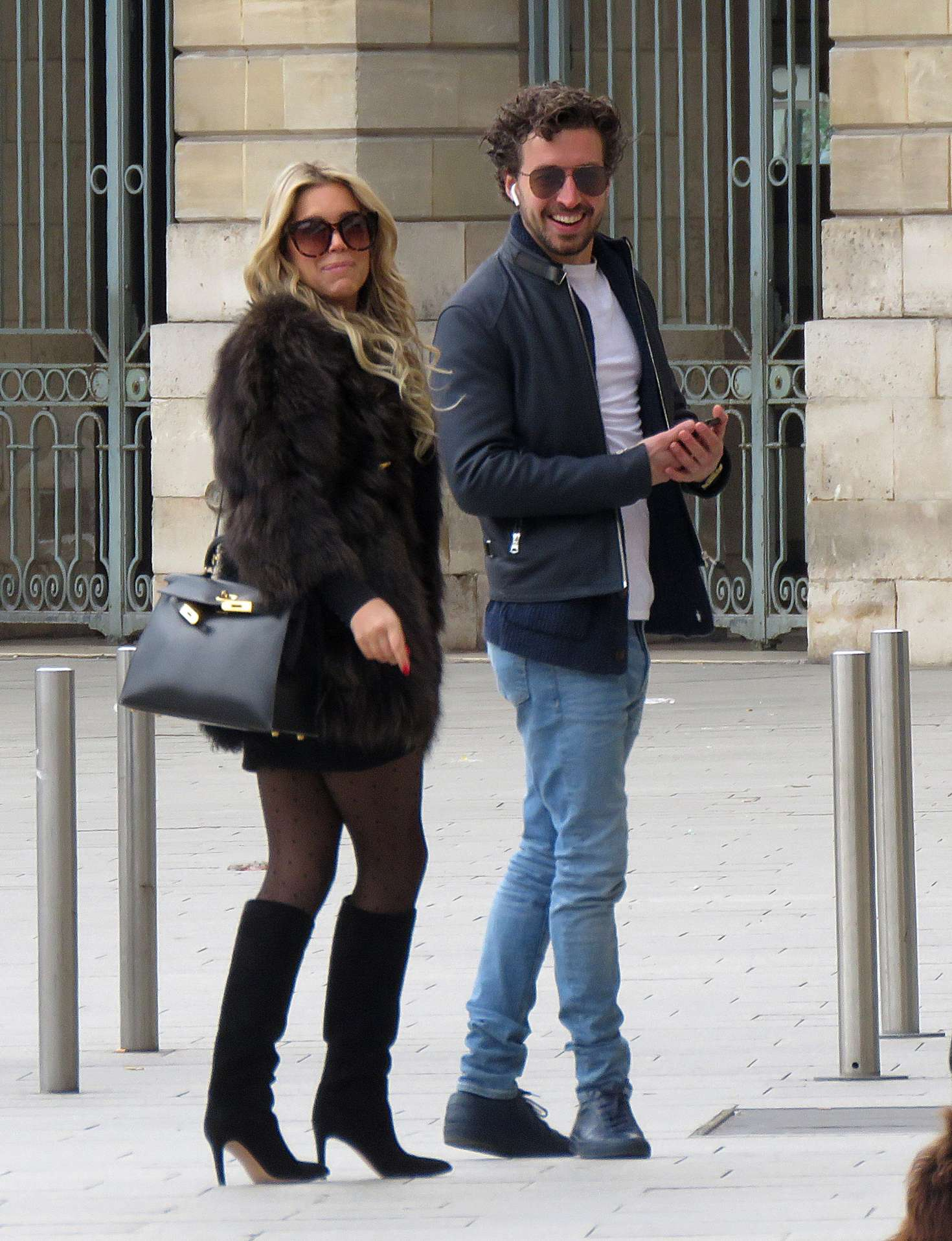 Sylvie Meis and her boyfriend out in Paris