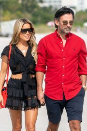 Sylvie Meis and her fiancee Nicals Castello - Out in Miami Beach
