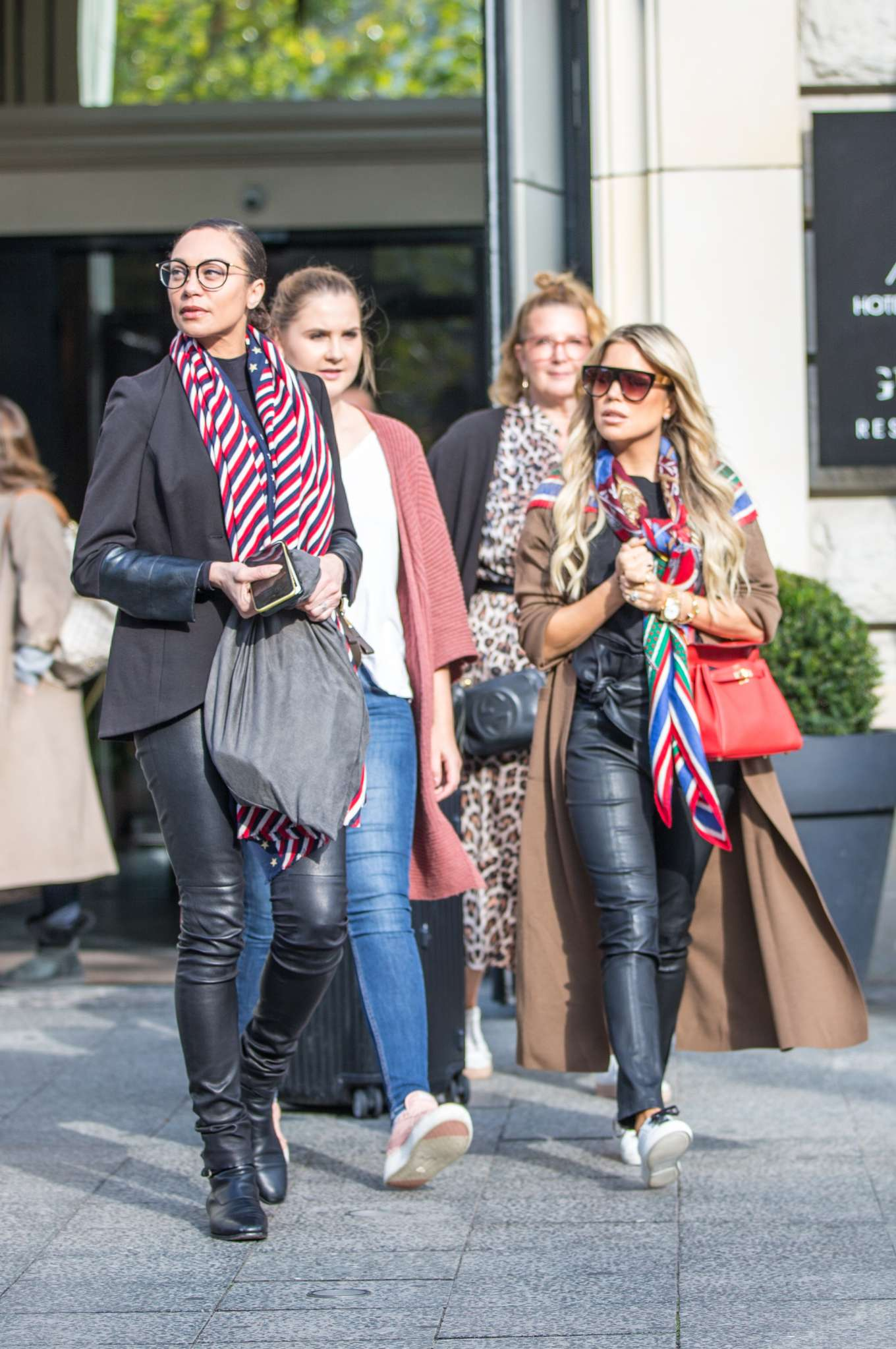 Sylvie Meis and Lilly Becker - Filming a new episode of german TV Show 'Shopping Queen' in Berlin