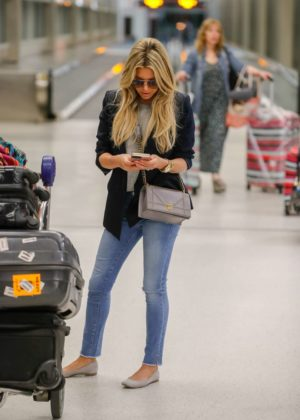 Sylvie Meis Arrives at Airport in Miami