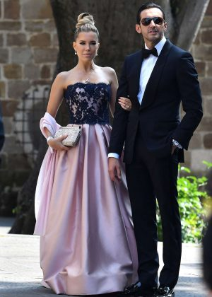 Sylvie Meis at Victoria Swarovski wedding in the San Giusto church in Trieste