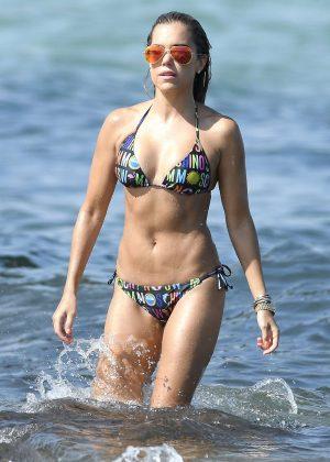 Sylvie Meis - Bikini Candids in Saint Tropez