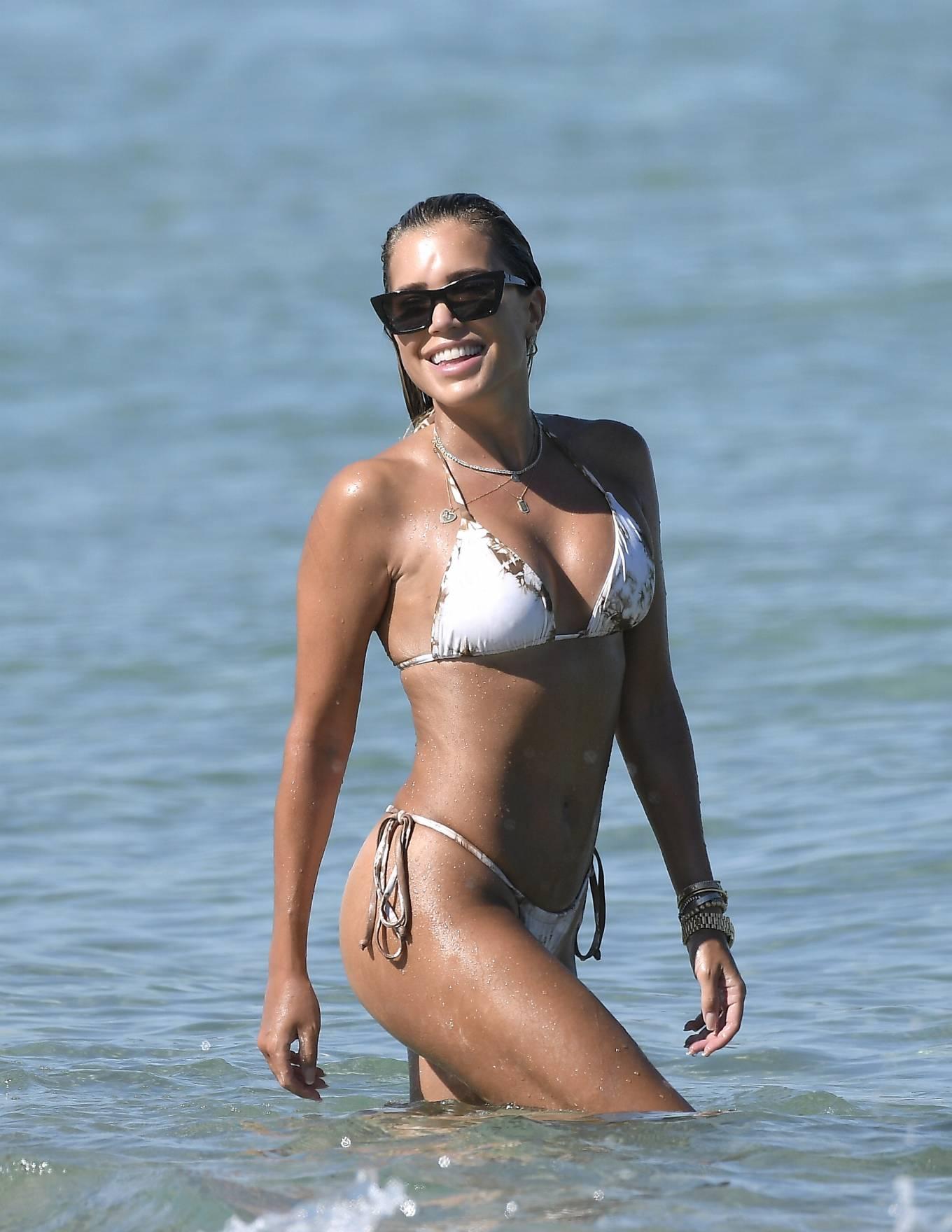 Sylvie Meis - Bikini candids on the beach in Saint Tropez
