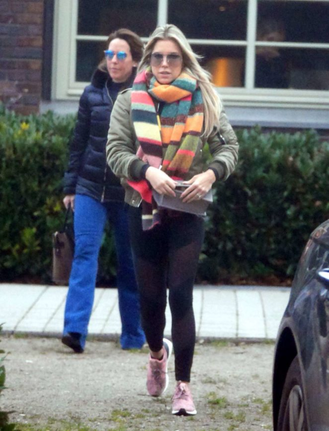 Sylvie Meis - Hits the gym in Hamburg