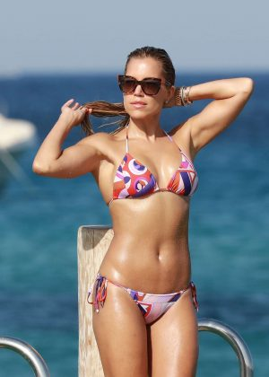 Sylvie Meis Hot Bikini Candids in St. Tropez