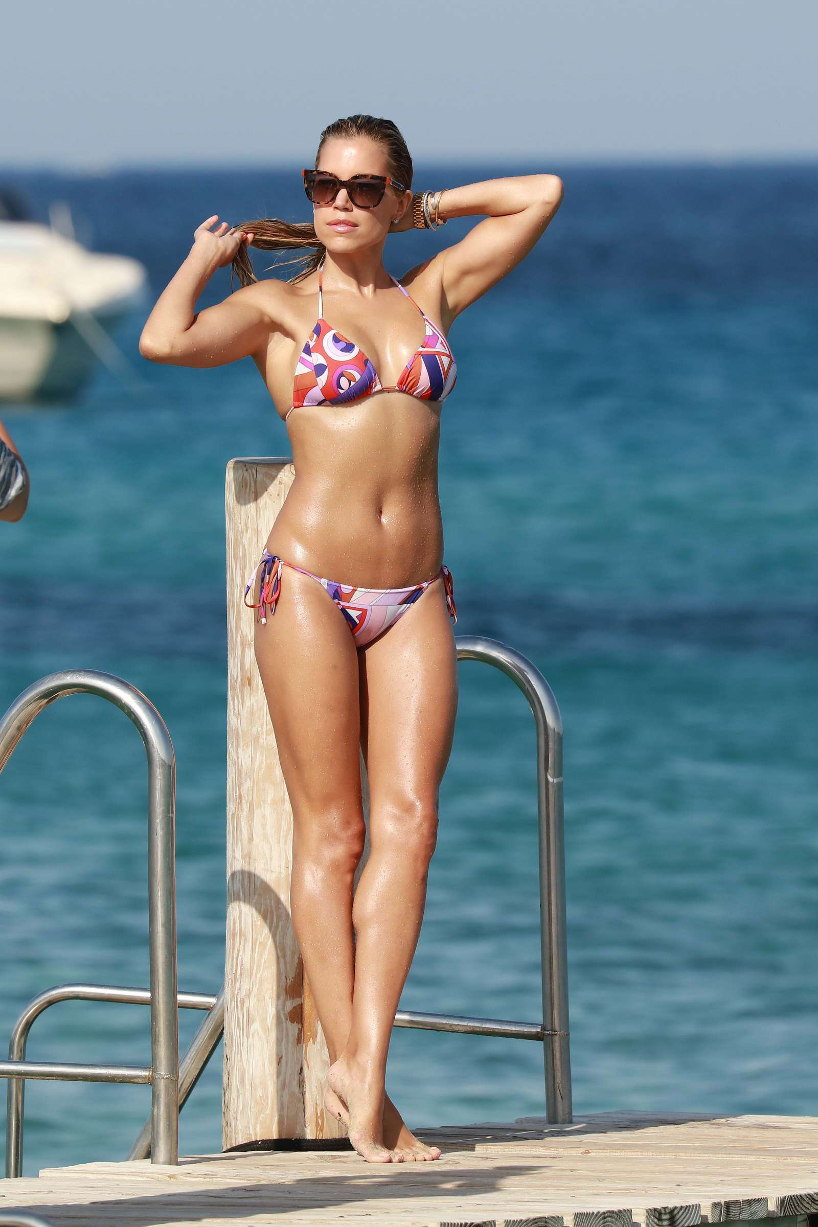 sylvie meis hot bikini candids in st tropez. Black Bedroom Furniture Sets. Home Design Ideas