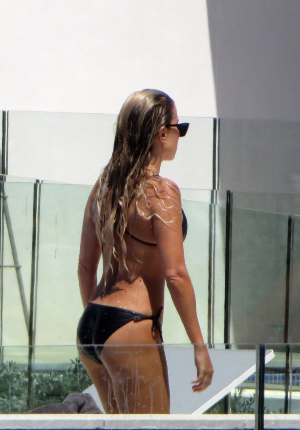 Sylvie Meis - In a bikini at the pool of a private residential complex in Mallorca