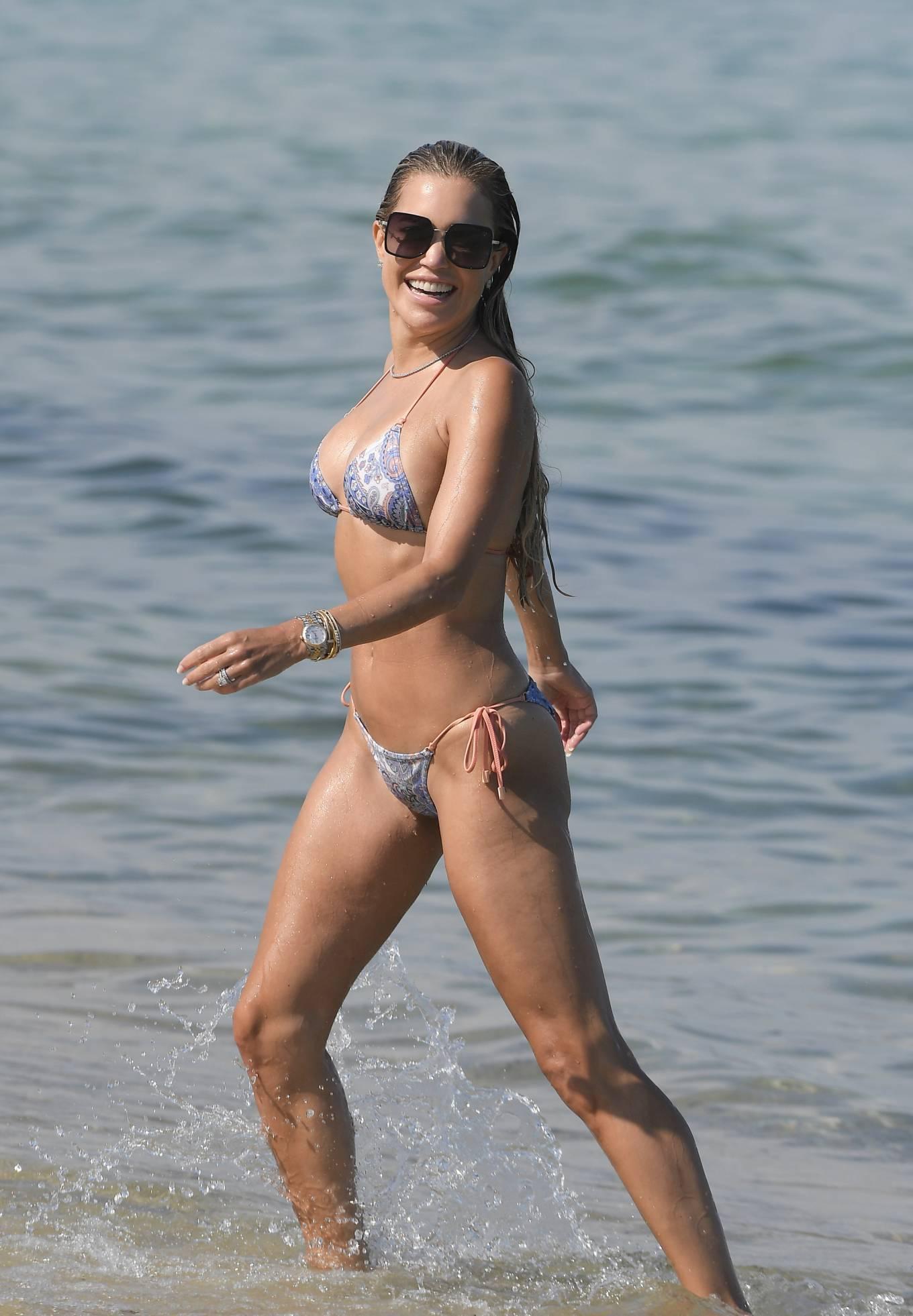 Sylvie Meis 2021 : Sylvie Meis – In a bikini with her husband Niclas Castello on the beach La Réserve in Ramatuelle-15