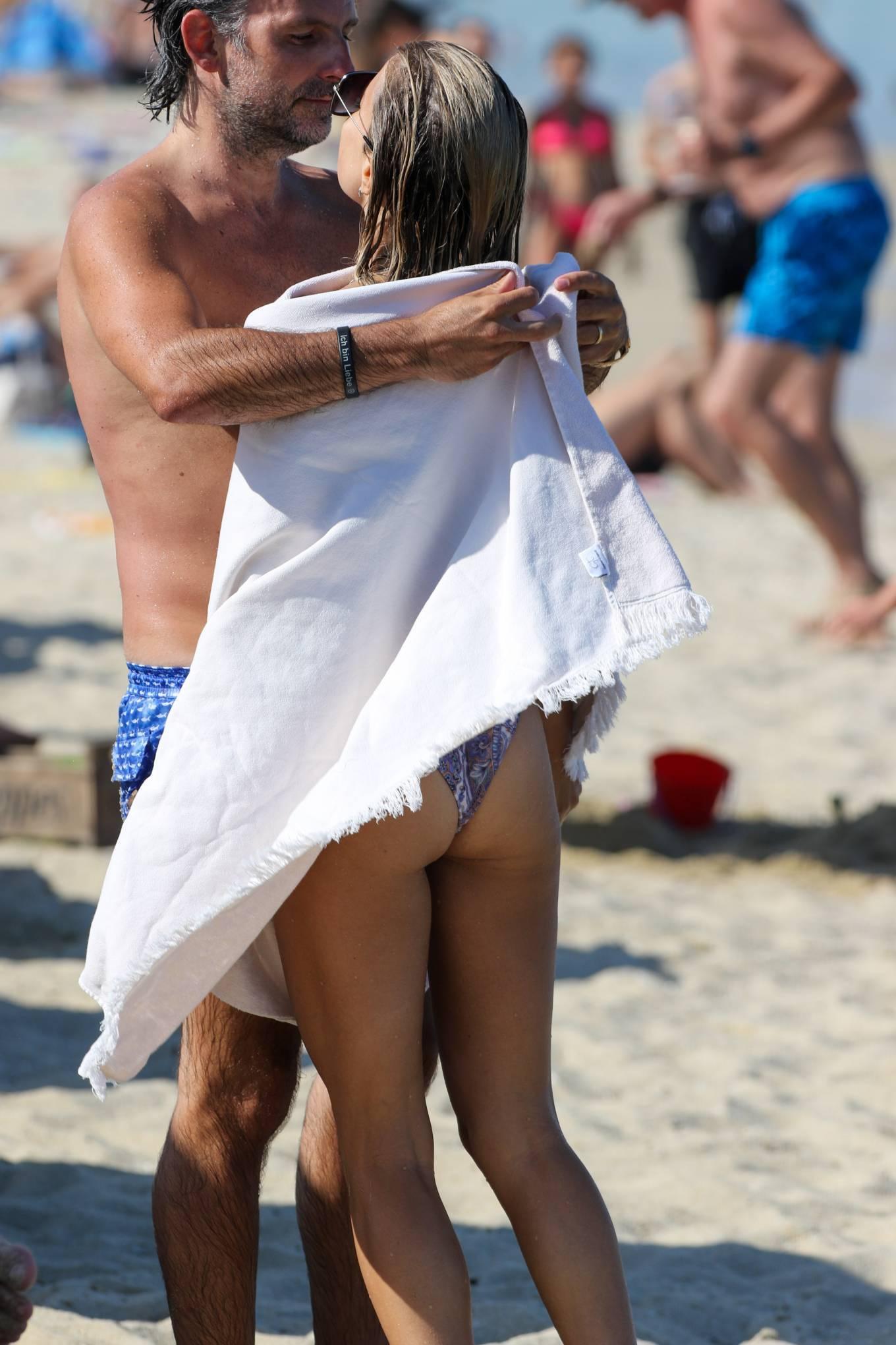 Sylvie Meis 2021 : Sylvie Meis – In a bikini with her husband Niclas Castello on the beach La Réserve in Ramatuelle-20