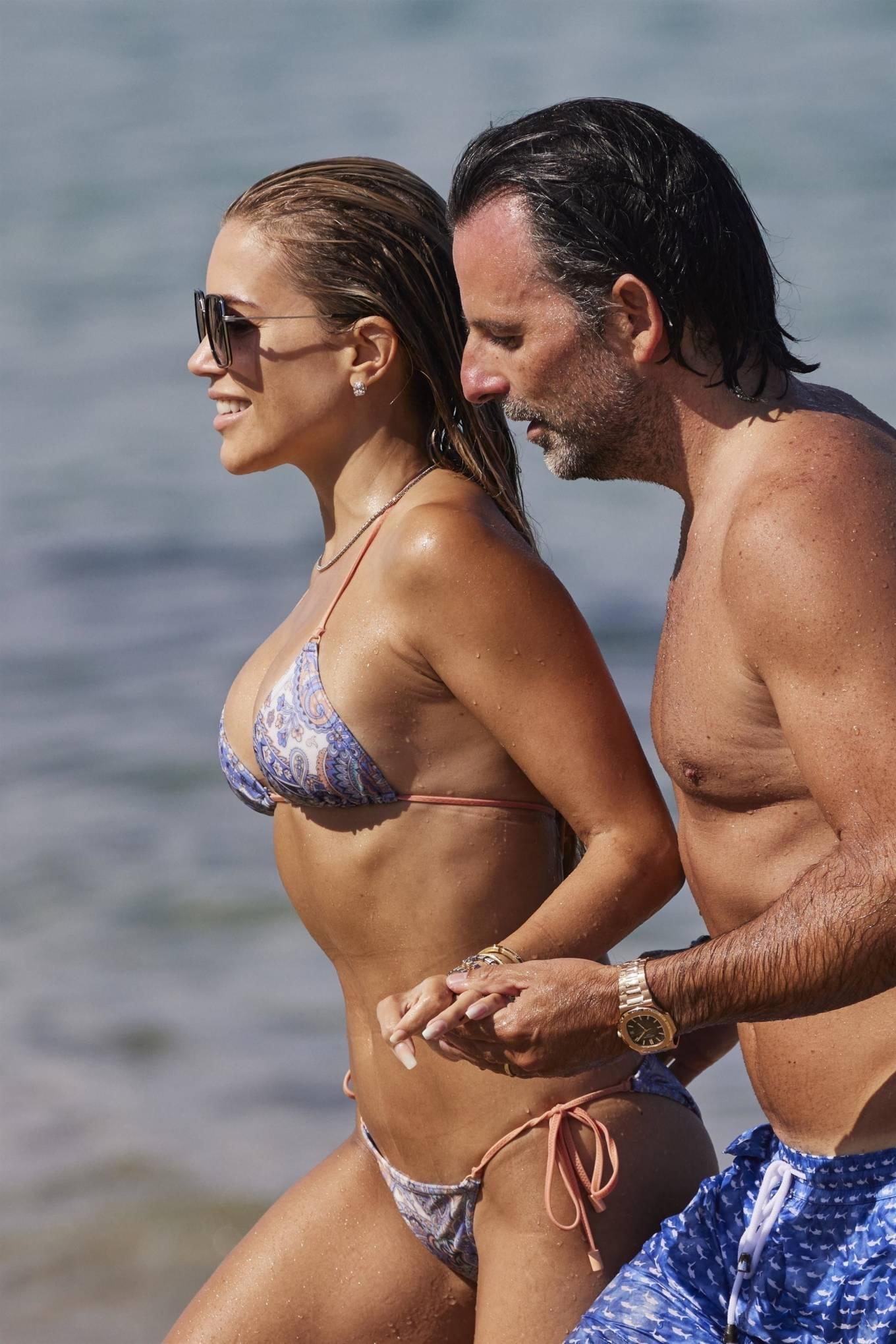 Sylvie Meis 2021 : Sylvie Meis – In a bikini with her husband Niclas Castello on the beach La Réserve in Ramatuelle-25