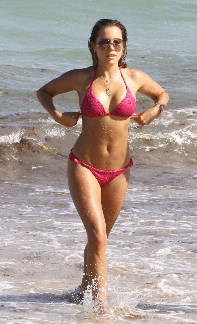 Sylvie Meis in Bikini at the beach in Miami adds