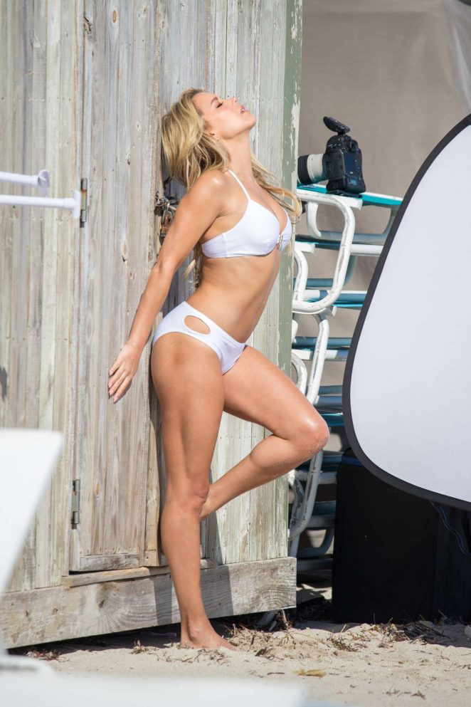 Sylvie Meis in Bikini - Shooting her new Sylvie Designs bikini collection in Miami