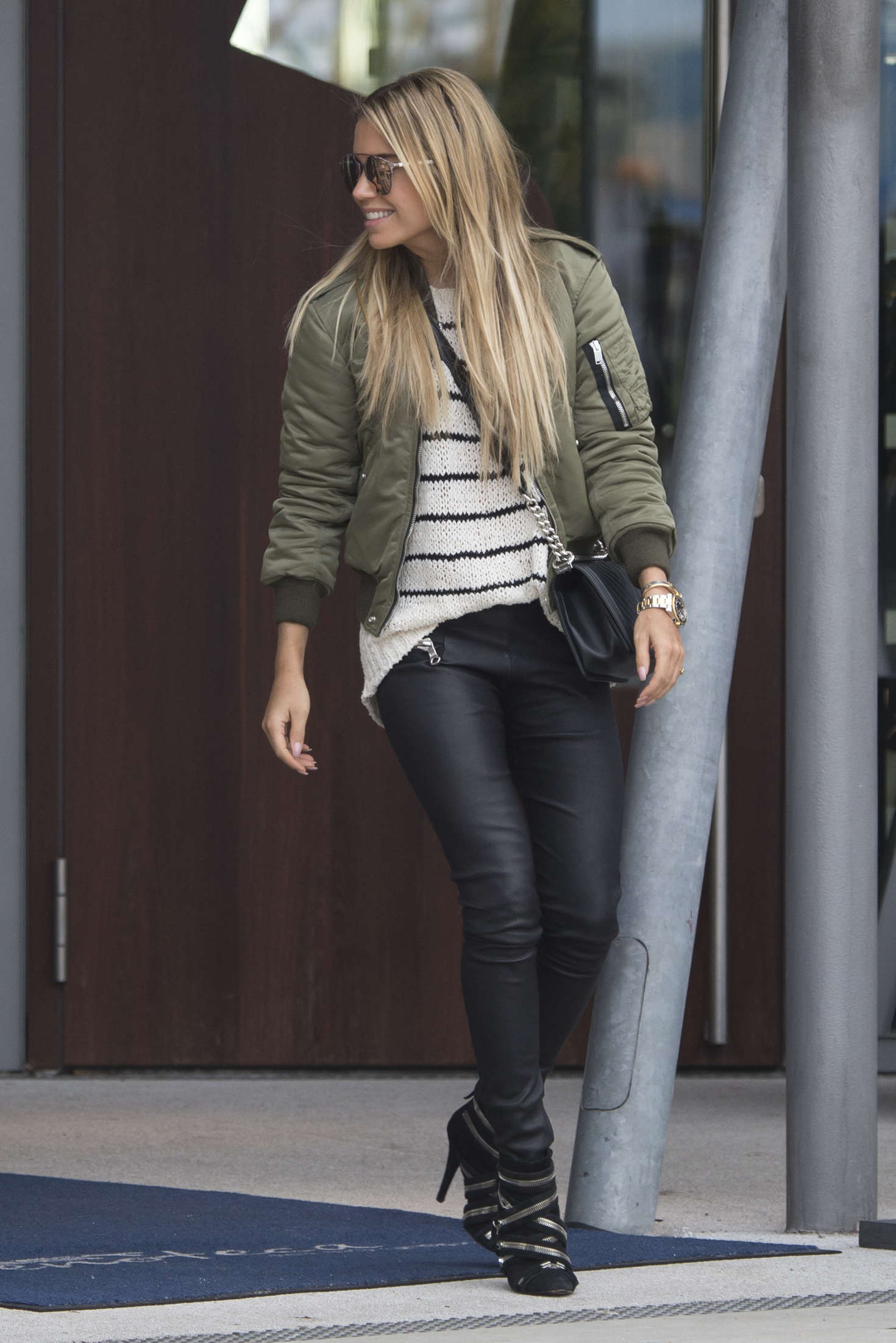Sylvie Meis in Tight Pants out in Hamburg