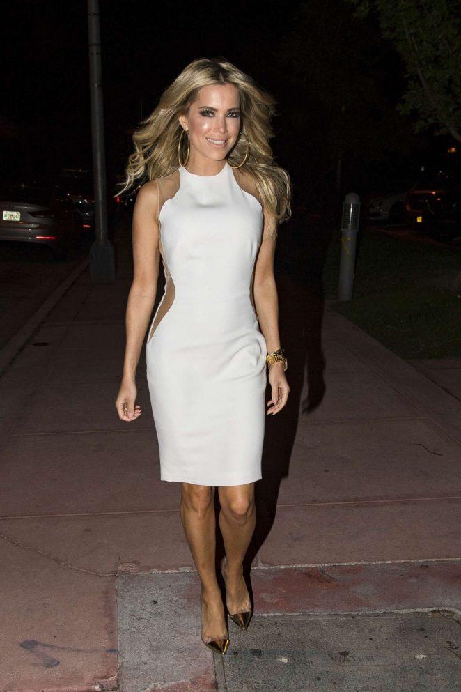 Sylvie Meis in White Dress out in Miami
