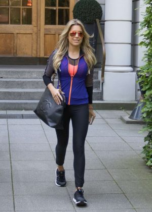 Sylvie Meis Leaves her apartment in Hamburg