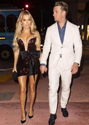 Sylvie Meis - Night out at Bagatelle restaurant in Miami