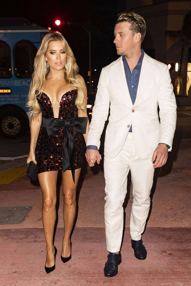 Sylvie Meis – Night out at Bagatelle restaurant in Miami