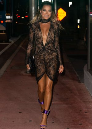 Sylvie Meis - Out for dinner in Miami Beach