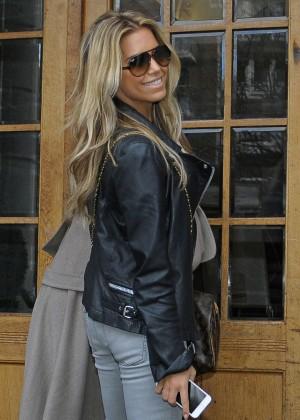 Sylvie Meis out in Hamburg