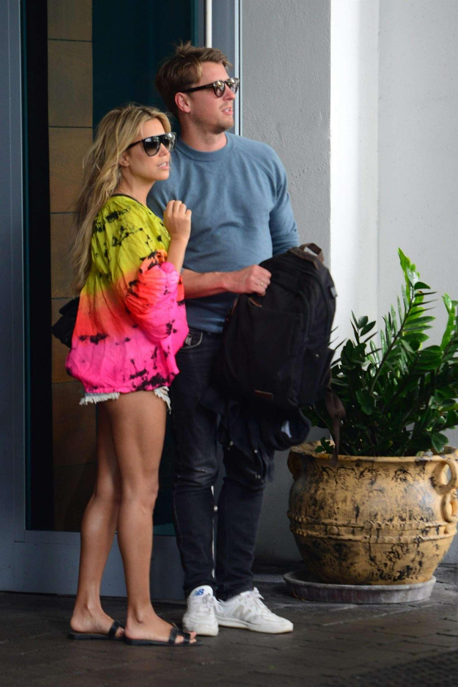 Sylvie Meis - Outside her Miami Beach Hotel