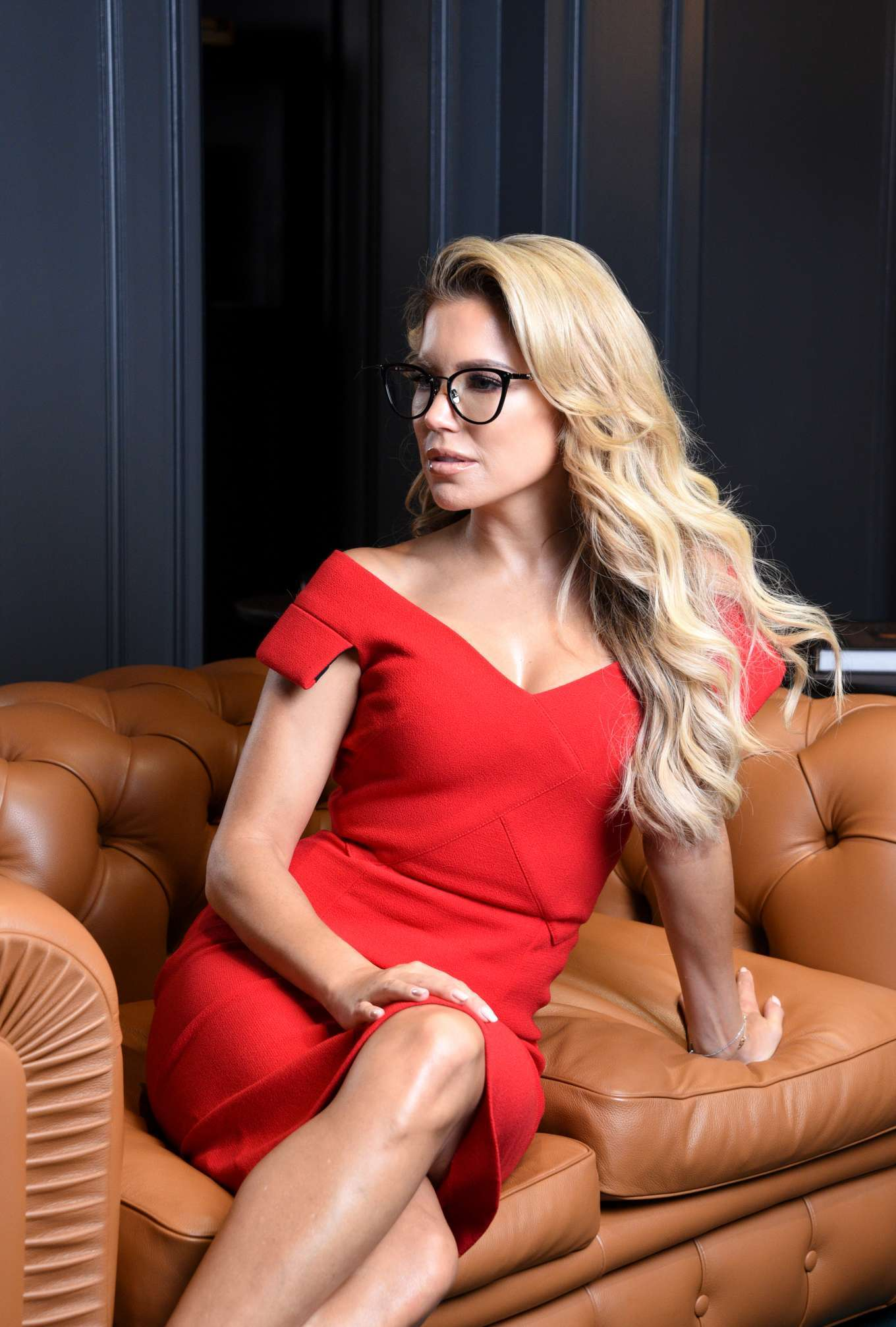 Sylvie Meis - Presentation of her eyewear collection at Edel-Optics in Hamburg