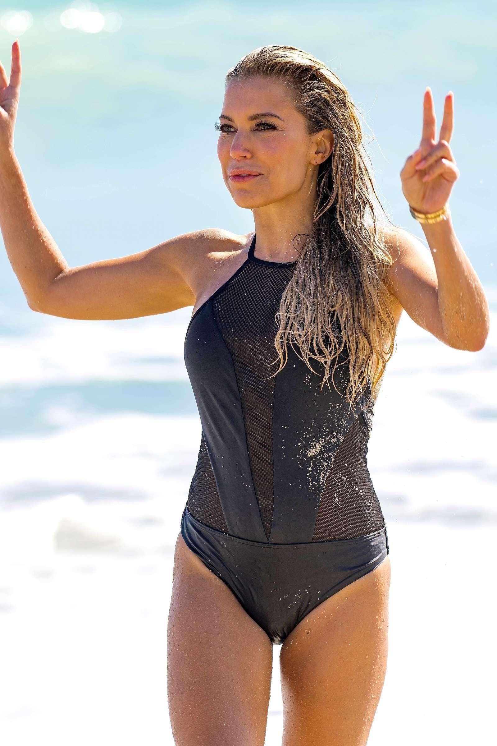 Sylvie Meis - Sylvie Designs Bikini Collection Photoshoot on Miami Beach