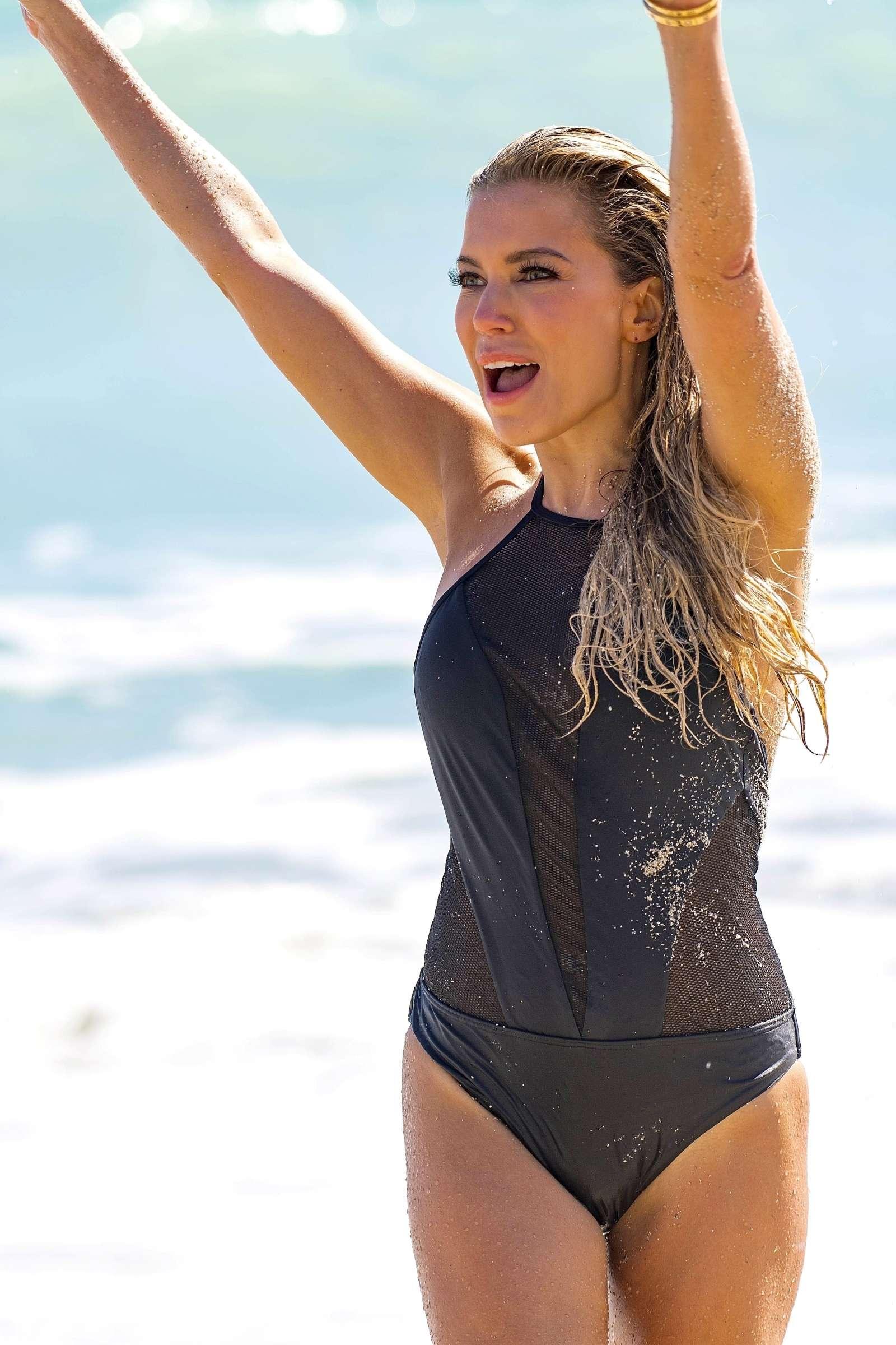 Sylvie Meis Sylvie Designs Bikini Collection Photoshoot on Miami Beach