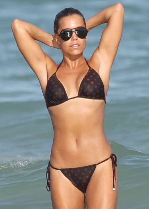 Sylvie Meis in Bikini on Miami Beach