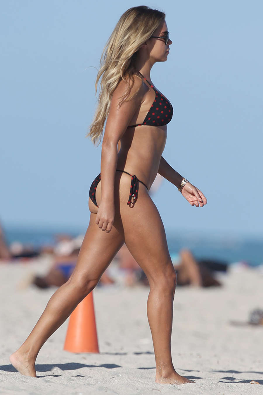 Sylvie Meis in Black Bikini on the beach in Miami Pic 26 of 35