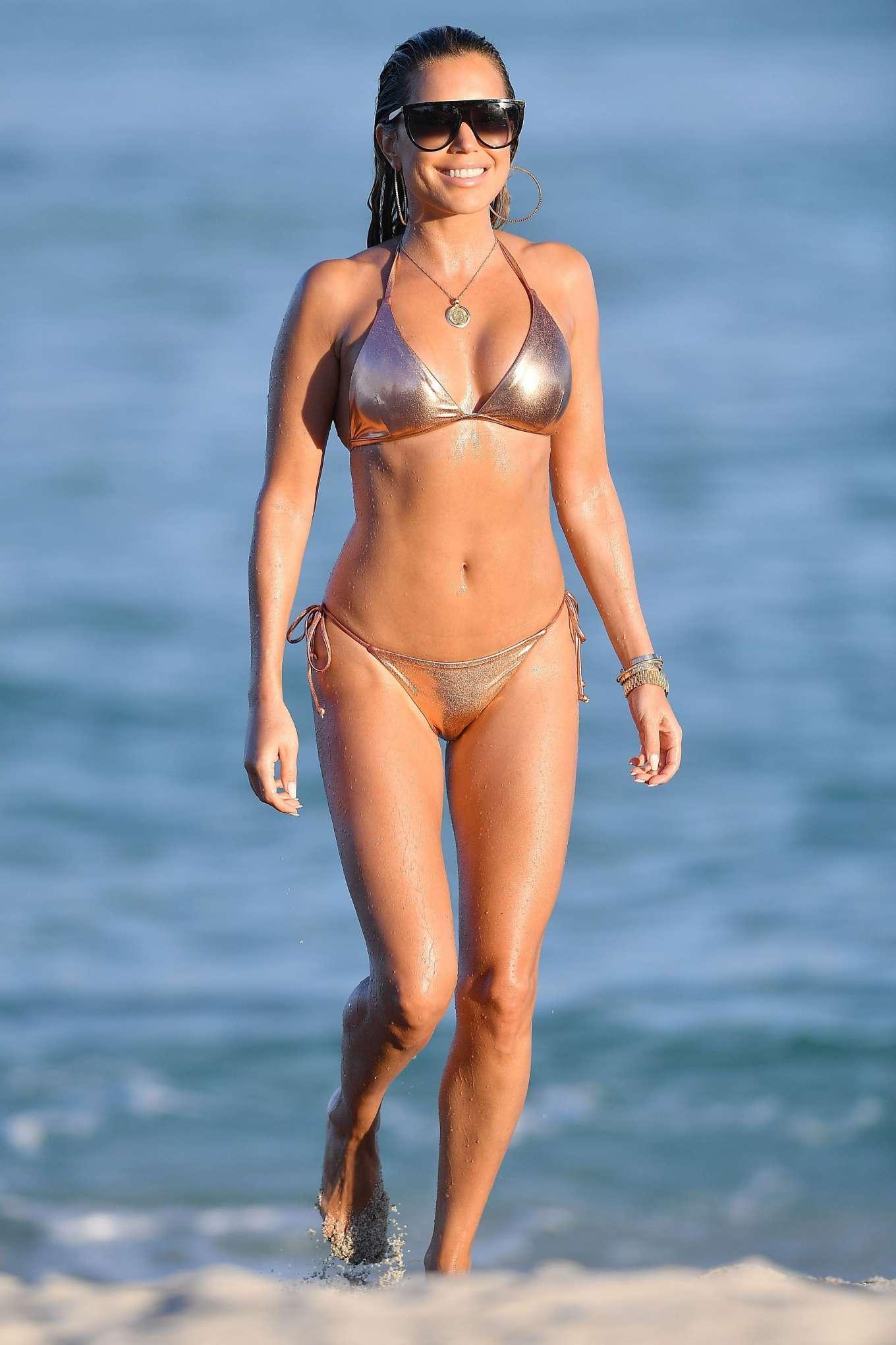 Sylvie Meis 2019 : Sylvie Meis – Wearing Bikinis at the beach in Miami Beach-02