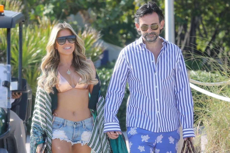 Sylvie Meis 2019 : Sylvie Meis – Wearing Bikinis at the beach in Miami Beach-05