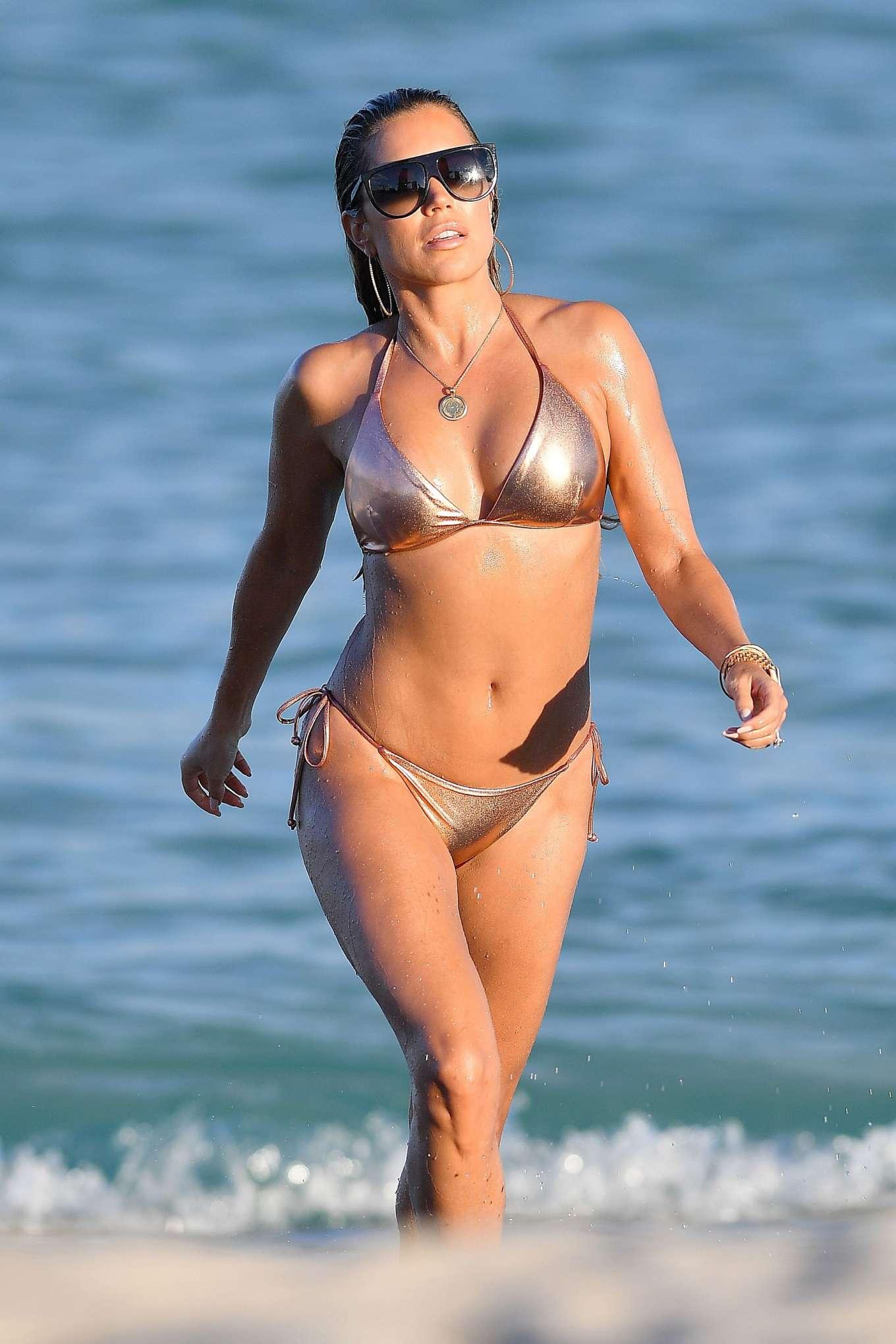 Sylvie Meis 2019 : Sylvie Meis – Wearing Bikinis at the beach in Miami Beach-06