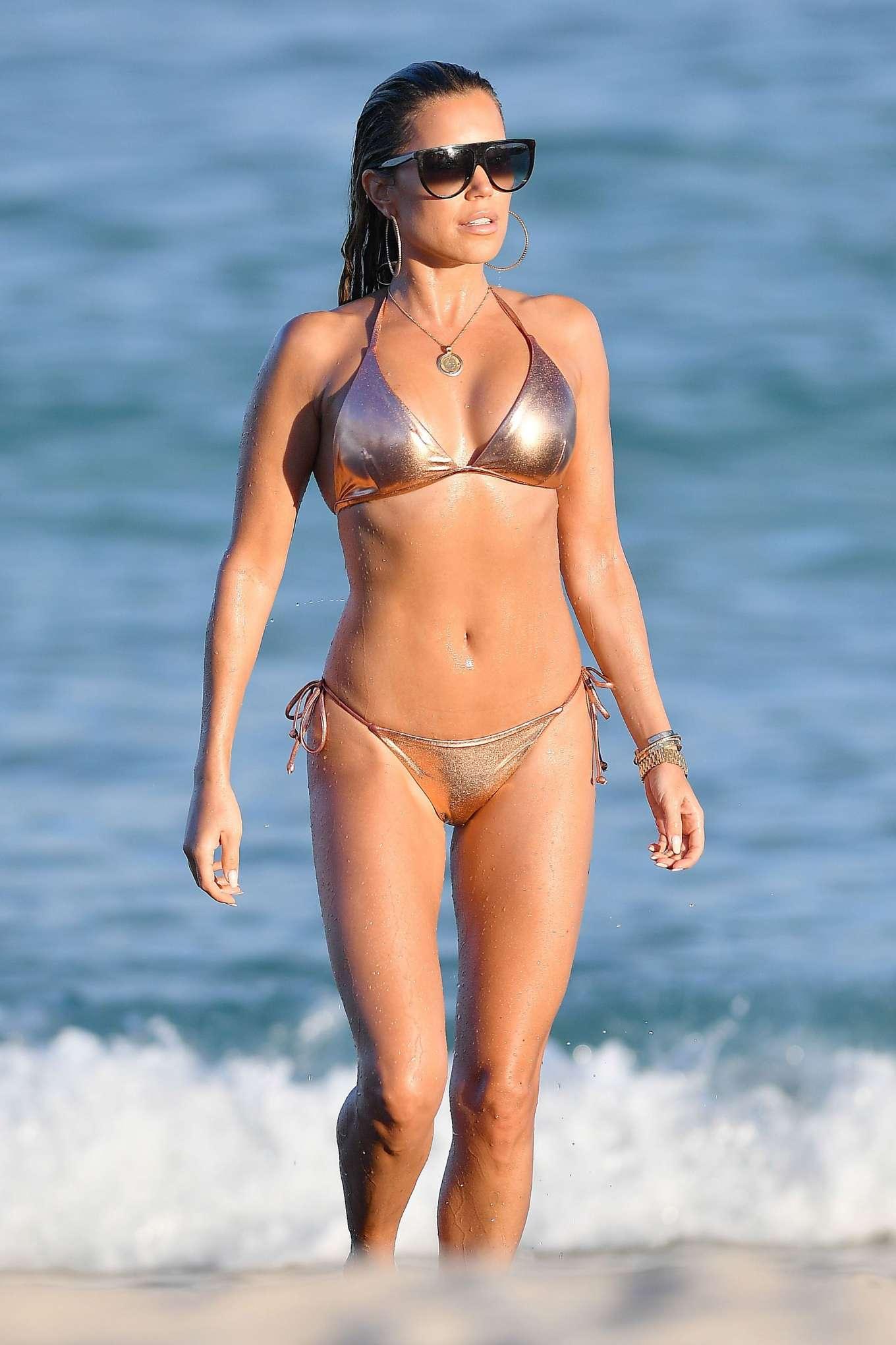 Sylvie Meis 2019 : Sylvie Meis – Wearing Bikinis at the beach in Miami Beach-07