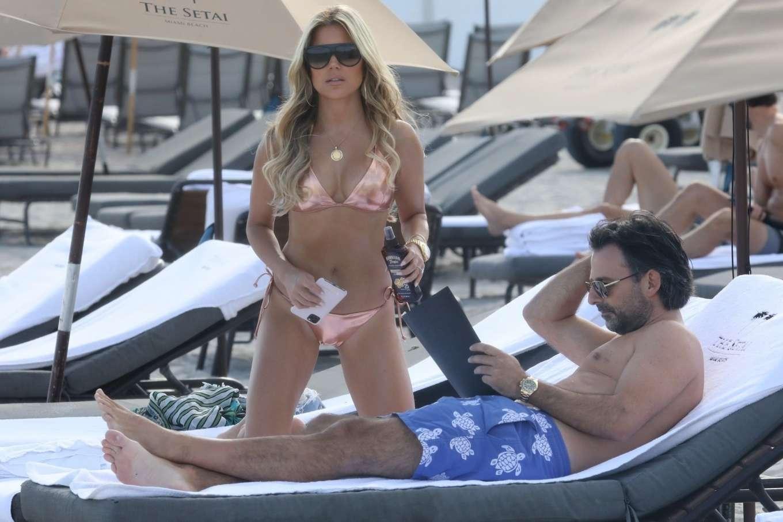 Sylvie Meis 2019 : Sylvie Meis – Wearing Bikinis at the beach in Miami Beach-09