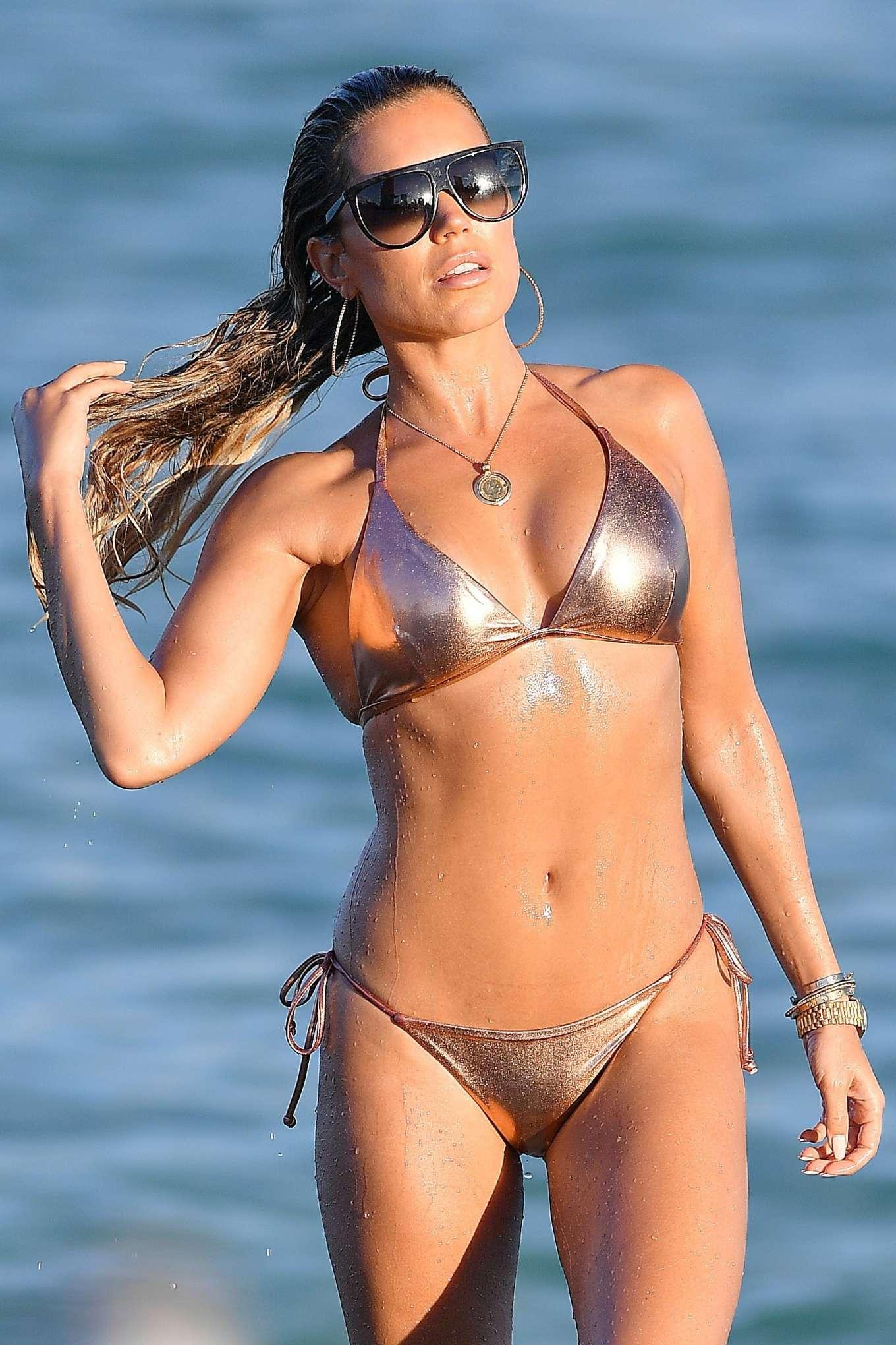 Sylvie Meis 2019 : Sylvie Meis – Wearing Bikinis at the beach in Miami Beach-10
