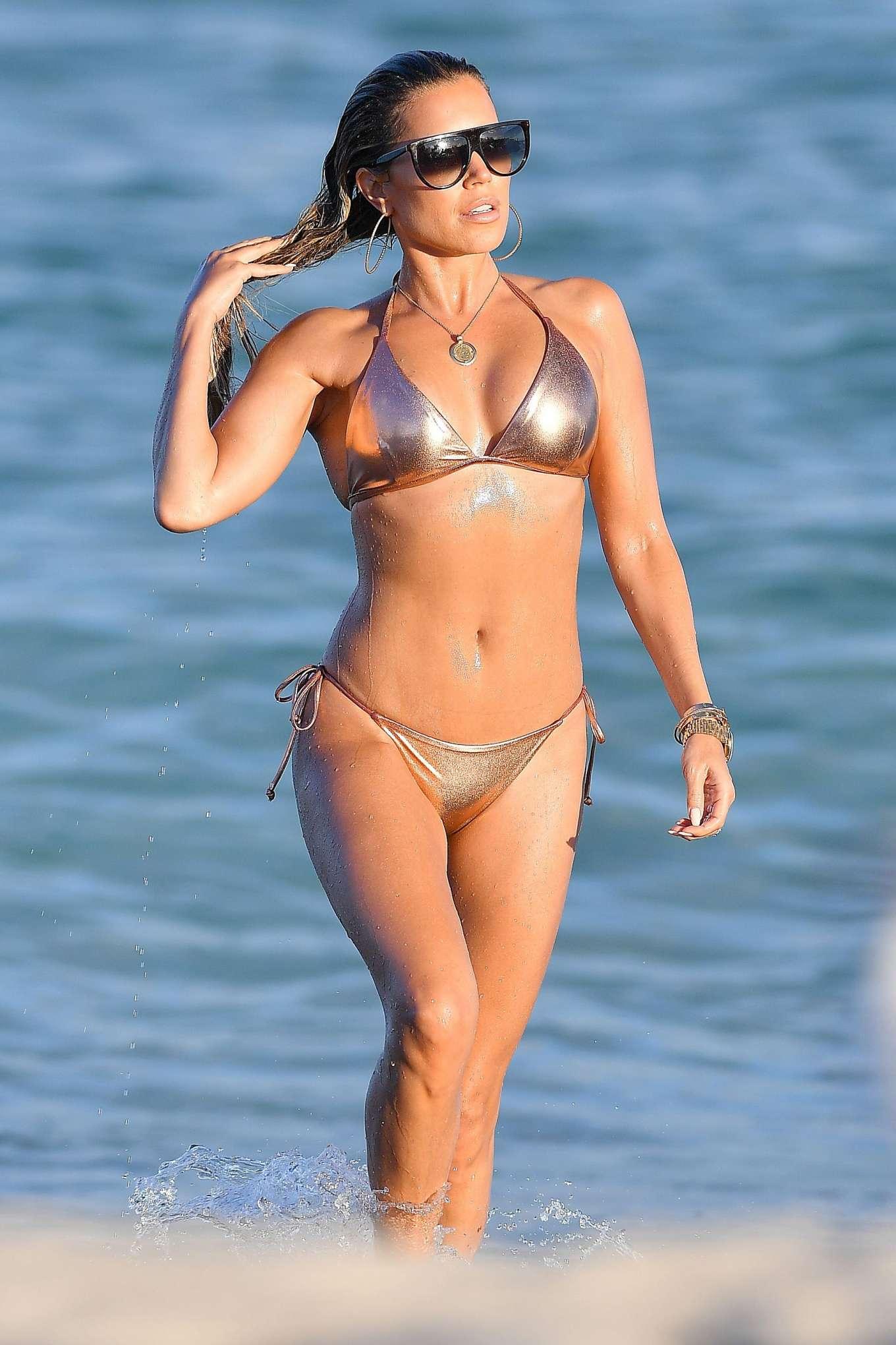 Sylvie Meis 2019 : Sylvie Meis – Wearing Bikinis at the beach in Miami Beach-11