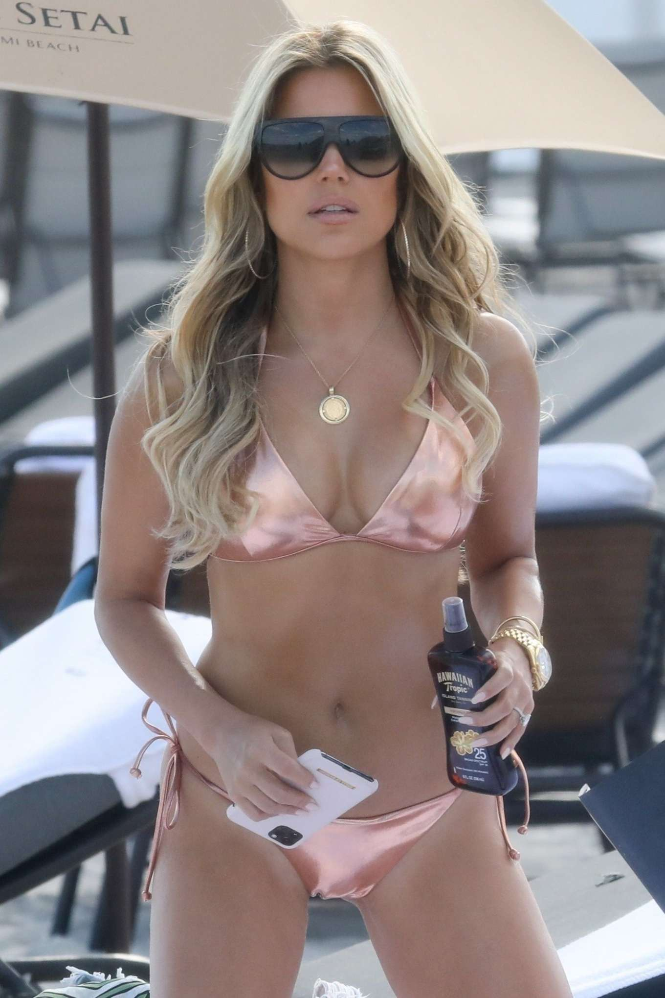 Sylvie Meis 2019 : Sylvie Meis – Wearing Bikinis at the beach in Miami Beach-13