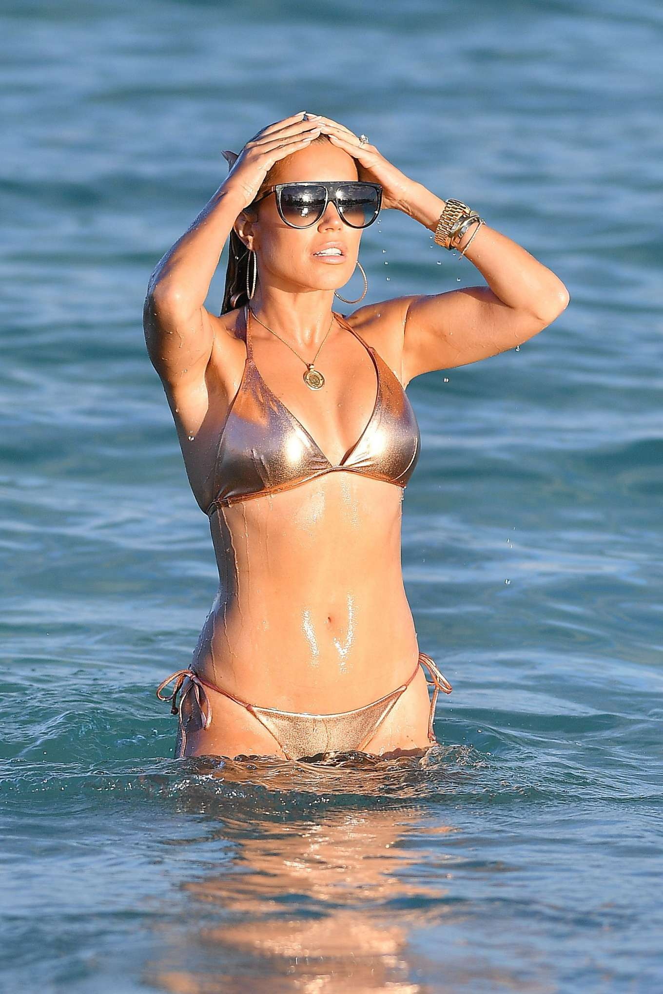 Sylvie Meis 2019 : Sylvie Meis – Wearing Bikinis at the beach in Miami Beach-17