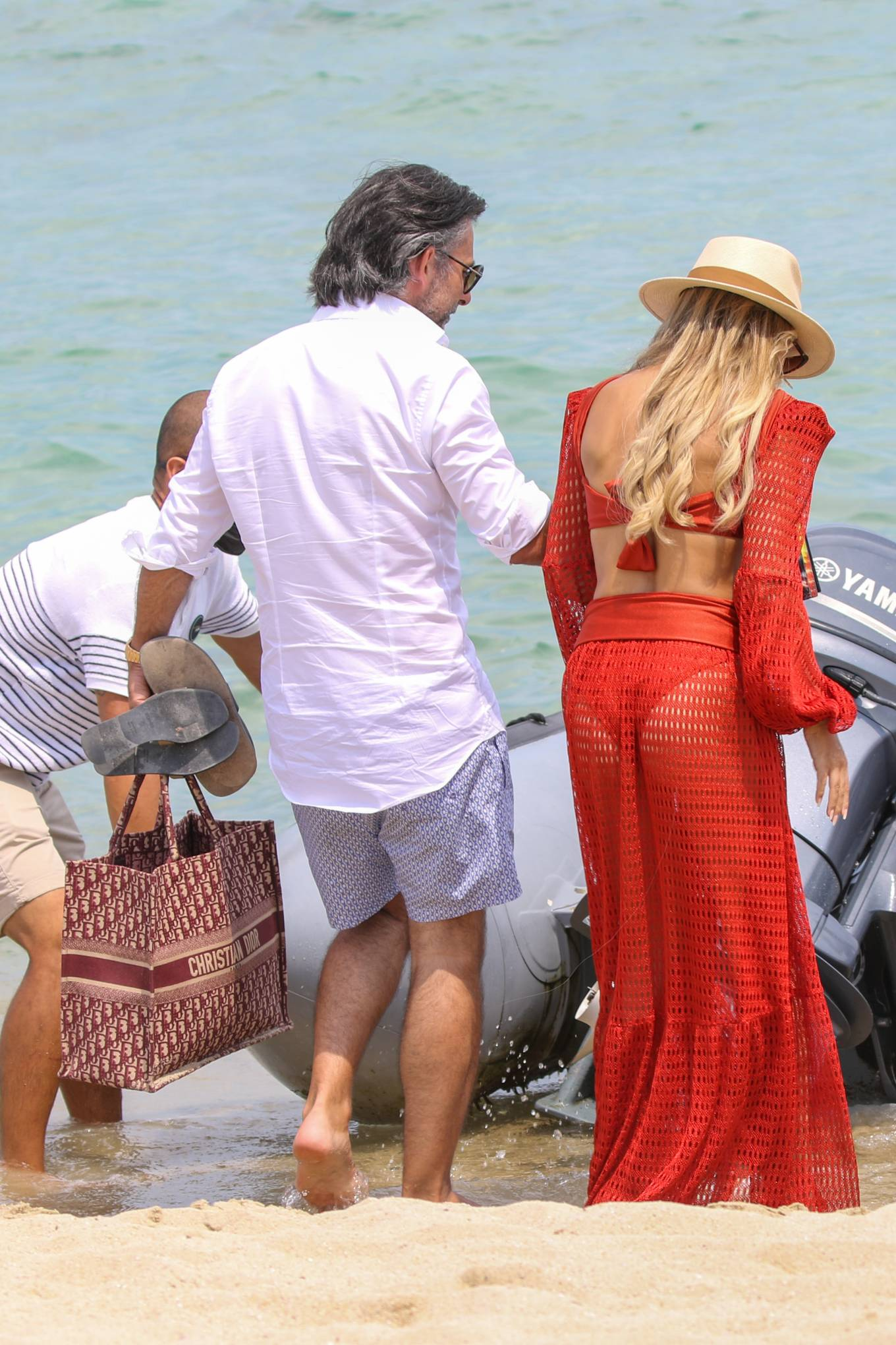 Sylvie Meis - With husband Niclas Castello are seen in Saint Tropez