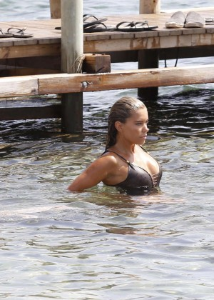 Sylvie Van Der Vaart in Swimsuit -19