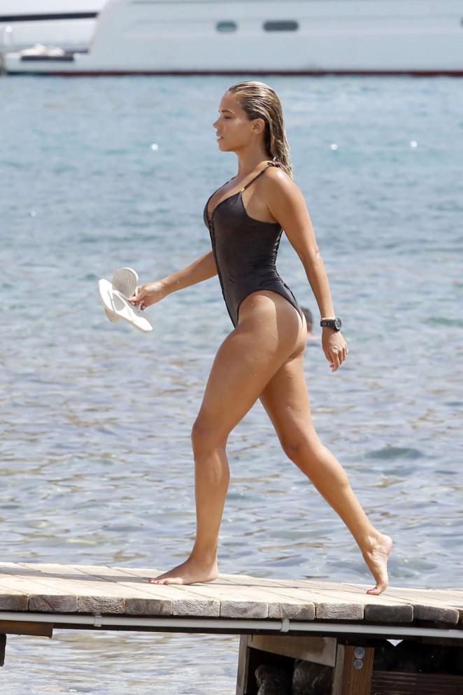 Sylvie Van Der Vaart in Swimsuit in Ibiza